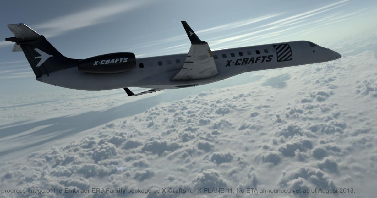 X-Crafts ERJ 145 Family announced for X-Plane 11 - flightsim news